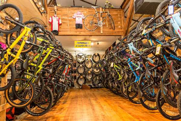 Interior of a bike shop brightly lit up using microtek UPS solutions